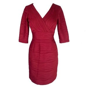 Jessica Howard Red Short Dress Sheath Sz 12P NWT
